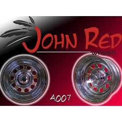 Felga stalowa chromowana John Red 15X8 6X139,7 ET: -30 dla Nissan Patrol, Isuzu, Opel, Pajero, Toyota
