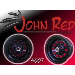 Felga stalowa czarna John Red 16X8 6X139,7 ET: -28 dla Nissan Patrol, Isuzu, Opel, Pajero, Toyota
