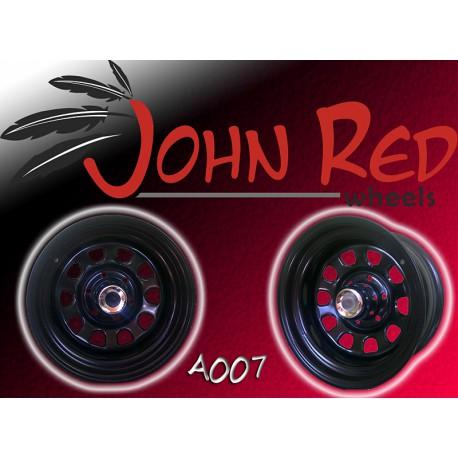 Felga stalowa czarna John Red 15X7 5x139,7 ET: -15 dla Suzuki, Daihatsu, Łada Niva, Uaz, SsangYung