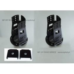 Regulowane wieżyczki HD amortyzatorów przednich do Land Rover czarne