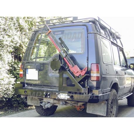 Zderzak tylny HD z bokami osłaniającymi (wersja bez lamp), uchwytem na koło do Land Rover Discovery I