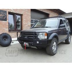 Zderzak przedni HD do Land Rover Discovery III i IV z orurowaniem (bullbarem)