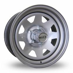 Felga stalowa srebrna Dotz Dakkar 15X7 6X139,7 ET:12 dla Nissan Patrol, Navara, Mitsubishi L200, Toyota