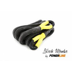 Lina kinetyczna Black Mamba nylon66 28mm x 8 m, MBL - 16,5T, poliuretanowe pętle