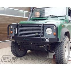 Zderzak przedni HD2 ze światłami i orurowaniem (bullbarem) do Land Rover Defender - wersja do aut z wysuniętą atrapą chłodnicy