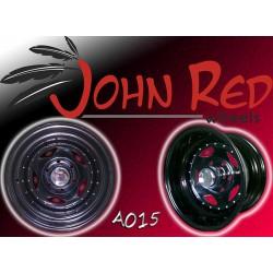 Felga stalowa czarna John Red 15X8 5X114,3 ET: -10 lub -25 dla Jeep, Freelander, Toyota RAV4, Honda,