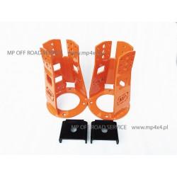 Regulowane wieżyczki HD amortyzatorów przednich do Land Rover pomarańczowe