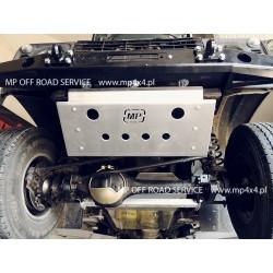Osłona HD2 drążków przednich do Land Rover Defender aluminiowa