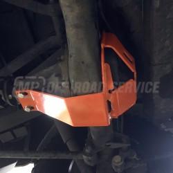 Osłona ze ślizgiem główki tylnego mostu do Land Rover pomarańczowa