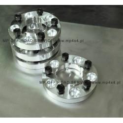 Dystanse kół 30mm 6x139,7 z pierścieniem centrującym Opel, Isuzu, Nissan, Mitsubishi, Toyota Land Crusier