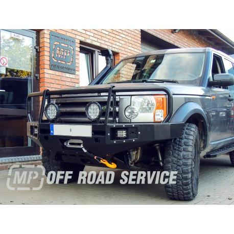 Zderzak przedni HD do Land Rover Discovery III z orurowaniem (bullbarem)