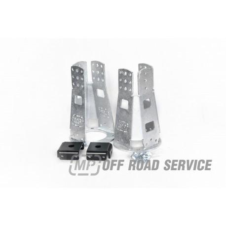 Regulowane wieżyczki HD amortyzatorów przednich do Land Rover ocynkowane