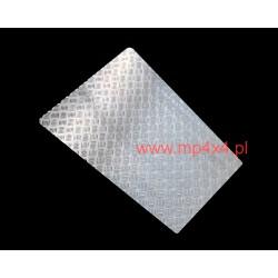 Nakładka na maskę Defendera z aluminiowej blachy ryflowanej 3mm