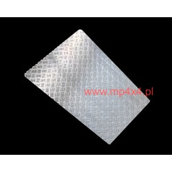 Nakładka na maskę Defendera z aluminiowej blachy ryflowanej 2mm