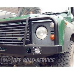 Zderzak przedni HD2 ze światłami i orurowaniem (bullbarem) do Land Rover Defender - wersja do aut z prostą atrapą chłodnicy