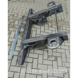 Tylna belka ramy do LR Defender 90 od roku 1999 - reperaturka ramy z długimi podłużnicami i mocowanami sprężyn