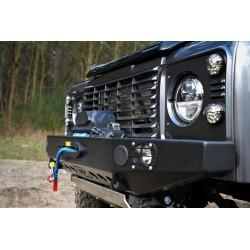 Zderzak przedni HD2 ze światłami do Land Rover Defender - wersja do aut z zwykłą, prostą atrapą chłodnicy