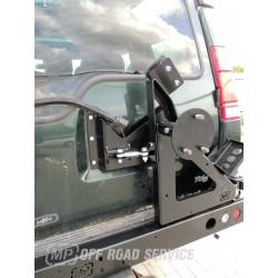 Uchwyt na koło zapasowe i podnośnik hilift do Land Rover Discovery 2 - wersja otwierana z drzwiami
