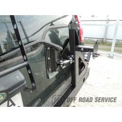 Uchwyt na koło zapasowe i podnośnik hilift do Land Rover Discovery 1 - wersja otwierana z drzwiami