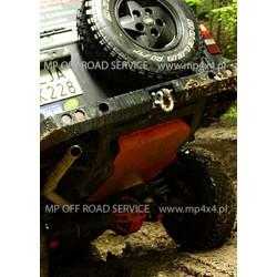 Osłona HD zbiornika paliwa do Land Rover Discovery II pomarańczowa
