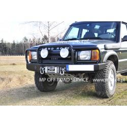 Zderzak przedni HD2 do Land Rover Discovery II z pełnym orurowaniem (bullbarem)