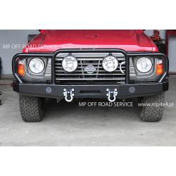 Zderzak przedni HD do Nissan Patrol Y60 z orurowaniem (bullbarem)